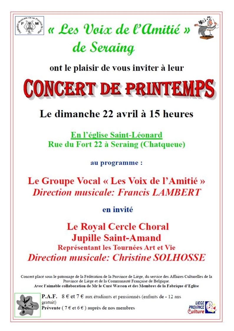 Affiche concert du 22 avril